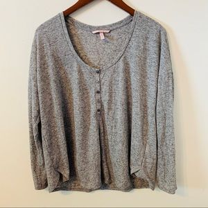 Victorias Secret Grey Blouse Top Size M